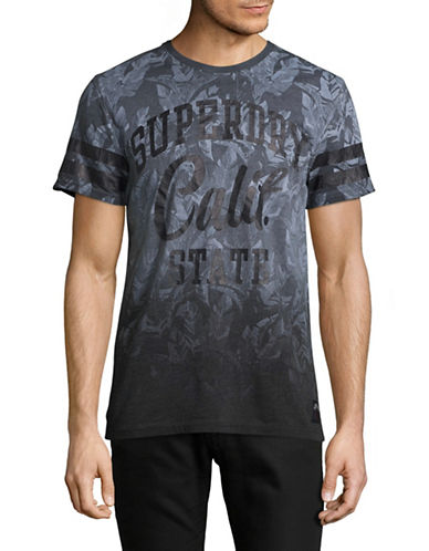 Superdry California Palm Print T-Shirt-BLUE-X-Large