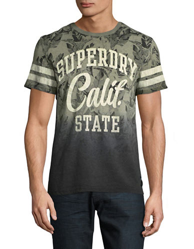 Superdry California Palm Print T-Shirt-GREY-X-Large