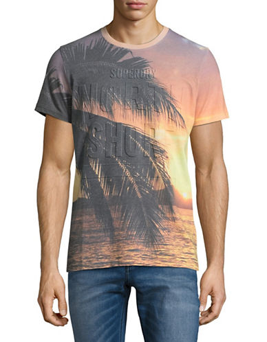 Superdry California Photo Graphic Tee-GOLD-Medium