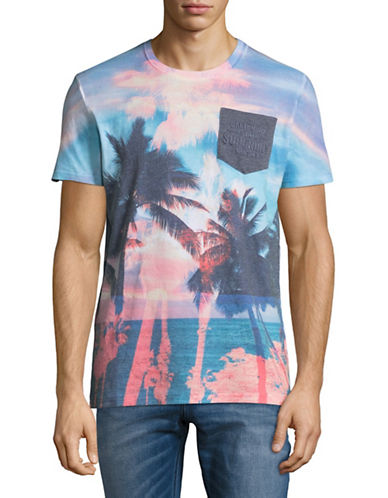 Superdry California Photo Graphic Pocket Tee-PINK-Small