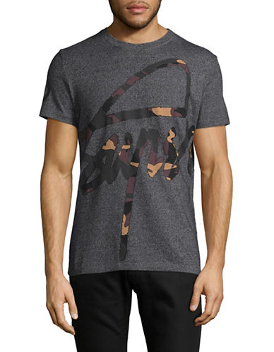 Superdry 45 Deg Camo T-Shirt-BLACK-Medium