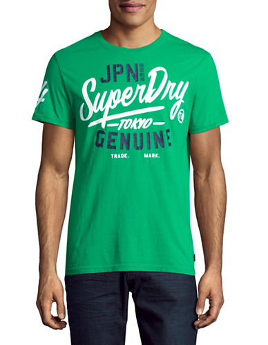 Superdry Printed Crew Neck T-Shirt-GREEN-Large
