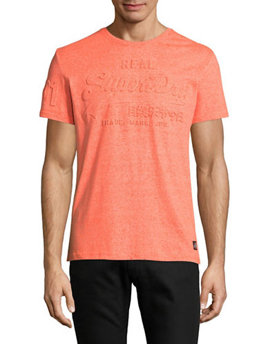 Superdry Vintage Logo Embossed T-Shirt-ORANGE-Medium