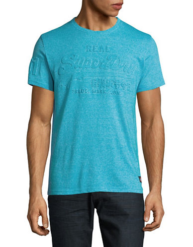 Superdry Vintage Logo Embossed T-Shirt-BLUE-Large