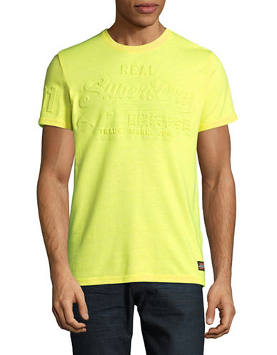 Superdry Vintage Logo Embossed T-Shirt-YELLOW-Small