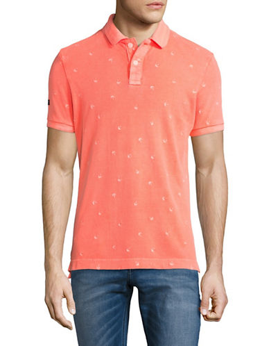 Superdry Vintage Destroy Bermuda Polo-PINK-Medium