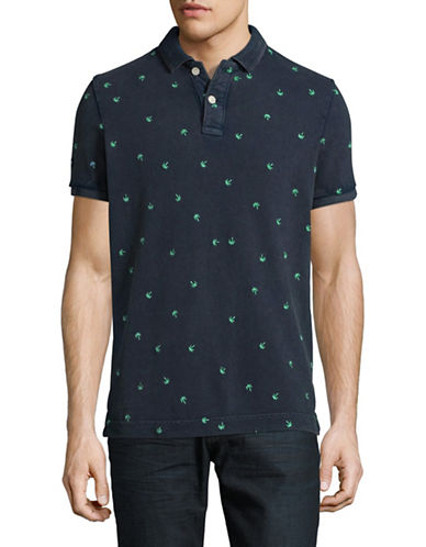 Superdry Vintage Destroy Bermuda Polo-NAVY-Small