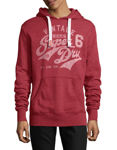 Superdry Stacker Reworked Hoodie-RED-X-Large