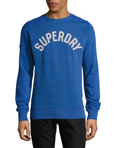 Superdry Logo Crew Neck Sweatshirt-BLUE-X-Large 89275781_BLUE_X-Large