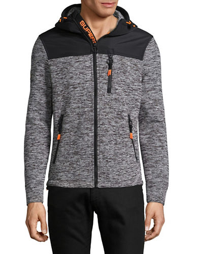 Superdry Classic Zip Jacket with Hood-BLACK-Small
