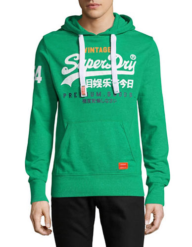 Superdry Premium Goods Lite Hoodie-GREEN-Large