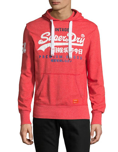 Superdry Premium Goods Lite Hoodie-RED-Small