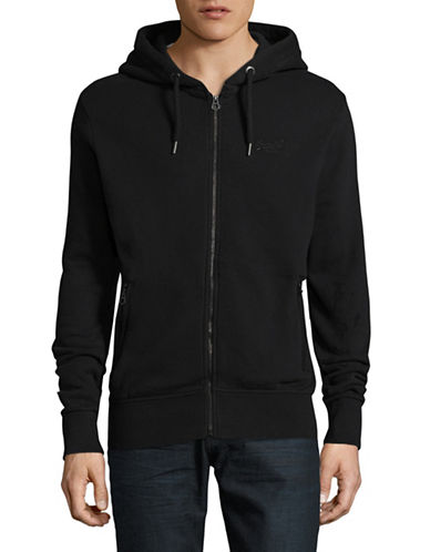 Superdry Zip-Up Hoodie-BLACK-Large