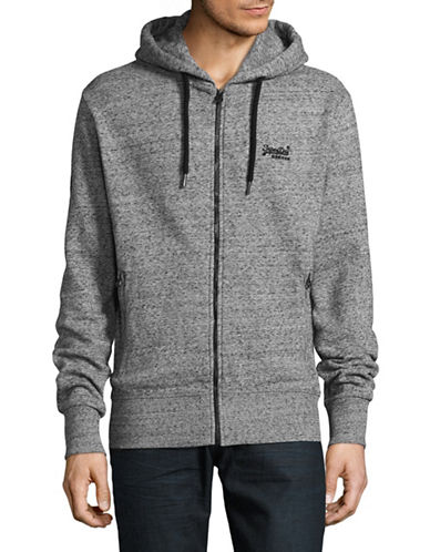 Superdry Zip-Up Hoodie-GREY-X-Large 89393210_GREY_X-Large