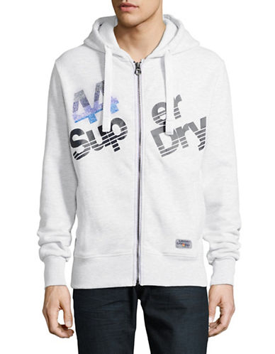Superdry Sup Zip Hoodie-BLUE-Medium