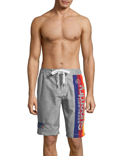 Superdry Cali Surf Board Shorts-SILVER-X-Large