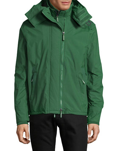 Superdry Zip Hood Arctic Windcheater Jacket-GREEN-Medium