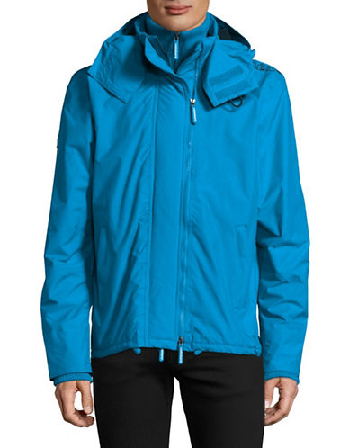 Superdry Zip Hood Arctic Windcheater Jacket-BLUE-Medium