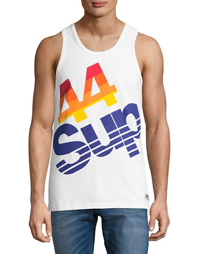 Superdry Sup Retro Graphic Tank-WHITE-Large