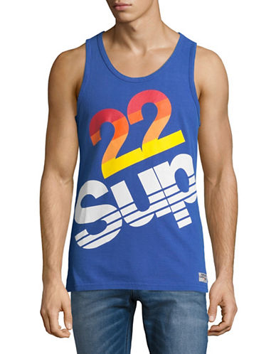 Superdry Sup Retro Graphic Tank-BLUE-XX-Large
