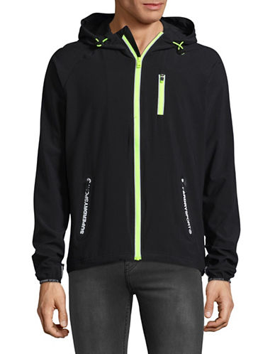 Superdry Sports Active Flash Zip Up-BLACK/YELLOW-XX-Large