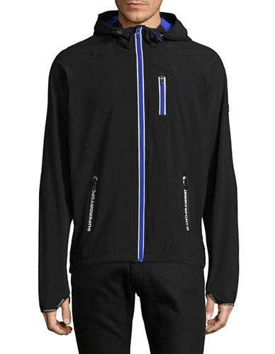 Superdry Sports Active Flash Zip Up-BLACK/BLUE-Small
