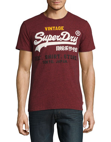 Superdry Shirt Shop Cotton Tee-PURPLE-Large