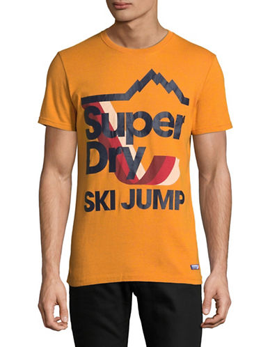 Superdry Retro Mountaineer Tee-GOLD-Large