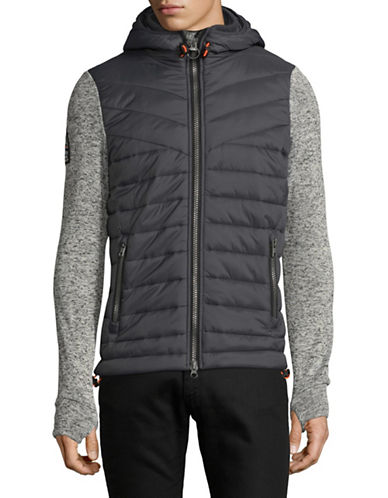 Superdry Storm Hybrid Hooded Jacket-GREY-XX-Large 89509416_GREY_XX-Large