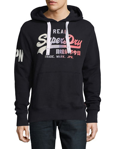 Superdry Vintage Logo Hoodie-BLUE-Medium