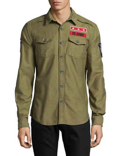 Superdry SD Army Corps Sport Shirt-GREEN-Medium