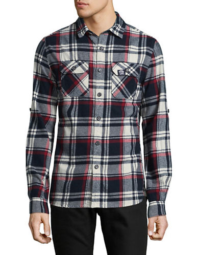 Superdry Lumberjack Cotton Sport Shirt-BLACK-X-Large