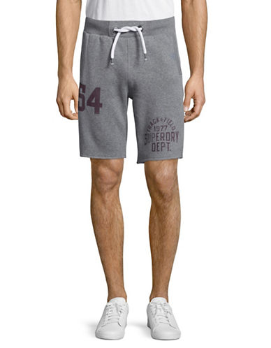 Superdry Trackster Sweatshorts-GREY-XX-Large