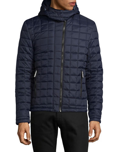 Superdry Hooded Puffer Jacket-BLUE-Large