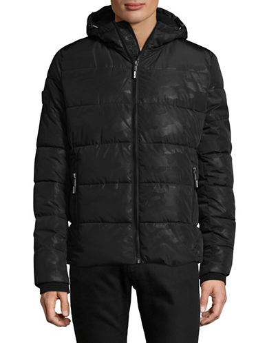Superdry Hooded Puffer Jacket-BLACK-Medium