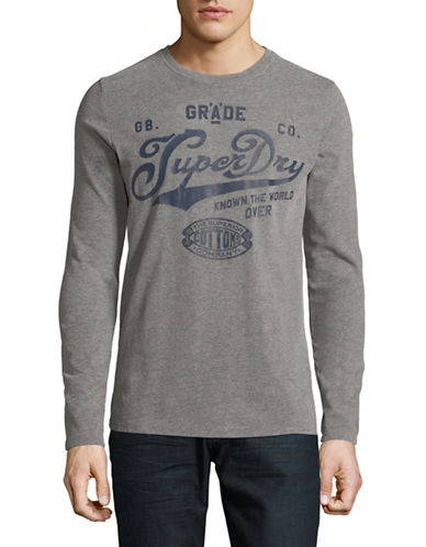 Superdry Grade A Long-Sleeve T-Shirt-GREY-Large