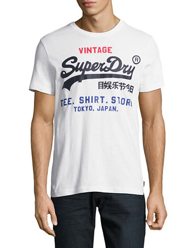 Superdry Shirt Shop Cotton Tee-WHITE-Large
