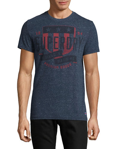 Superdry The Craftsman Heathered Tee-BLUE-Large
