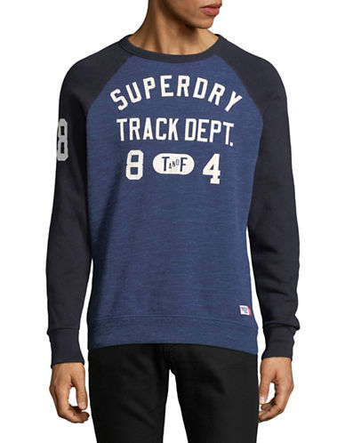 Superdry Graphic Raglan Sweater-BLUE-Medium