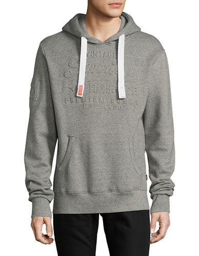 Superdry Muted Graphic Print Hooded Sweater-GREY-X-Large