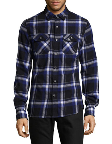 Superdry Lumberjack Cotton Sport Shirt-BLUE-X-Large