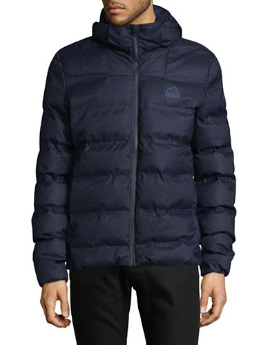 Superdry Hooded Puffer Jacket-BLUE-X-Large