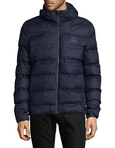 Superdry Hooded Puffer Jacket-BLUE-Medium