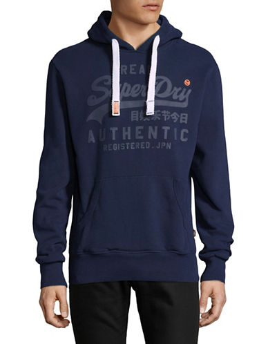 Superdry Vintage Authentic Hoodie-BLUE-Large