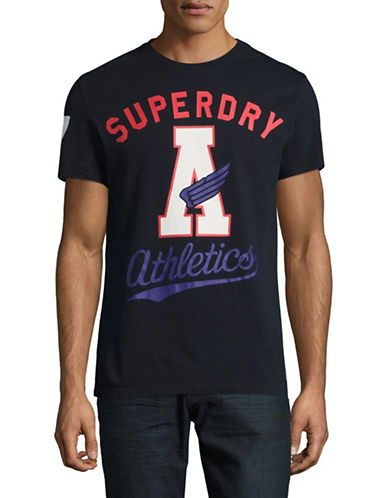 Superdry Celebration Crew Neck Tee-NAVY-Large