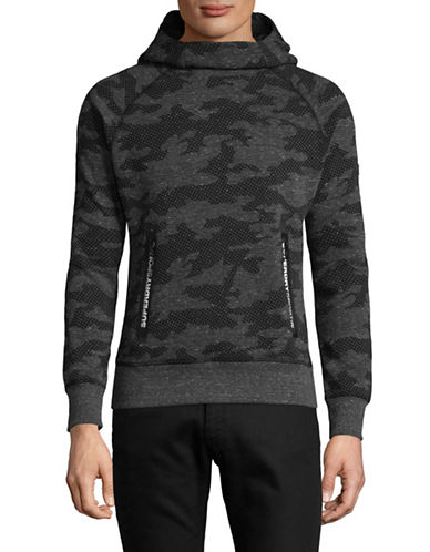 Superdry Gym Tech Snipe Hoodie-GREY-Medium