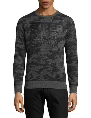Superdry Graphic Cotton Sweater-GREY-Medium
