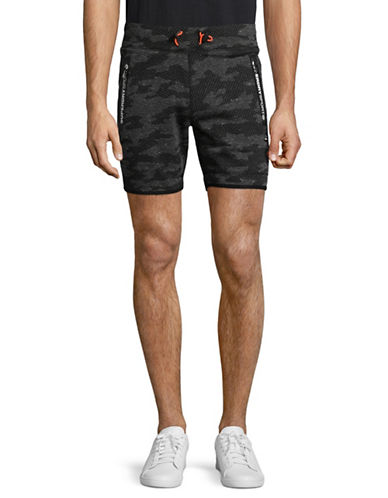 Superdry Gym Tech Slim Shorts-GREY-Large