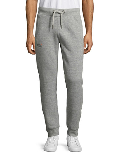 Superdry Heathered Pull-On Jogger Pants-GREY-XX-Large