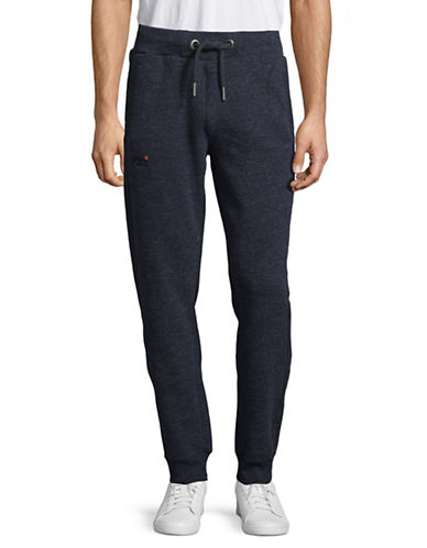 Superdry Heathered Pull-On Jogger Pants-BLUE-X-Large